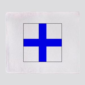 ICS Flag Letter X Throw Blanket