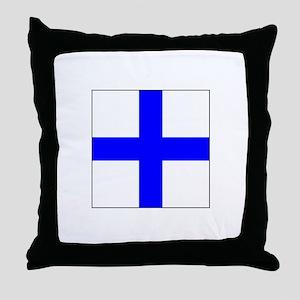 ICS Flag Letter X Throw Pillow