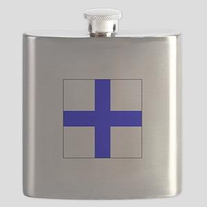 ICS Flag Letter X Flask