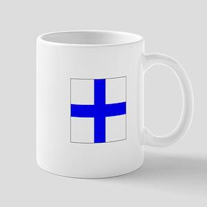 ICS Flag Letter X Mugs