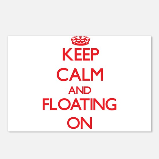 Keep Calm and Floating ON Postcards (Package of 8)