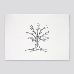 Bare Tree 5'x7'Area Rug