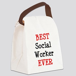 best social worker Canvas Lunch Bag
