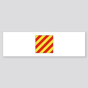ICS Flag Letter Y Bumper Sticker