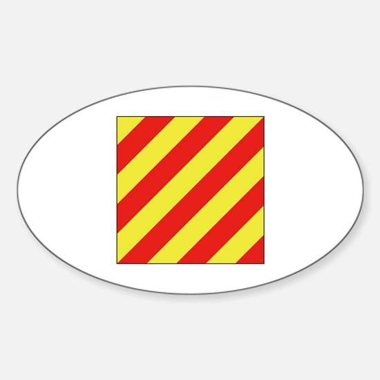 ICS Flag Letter Y Decal