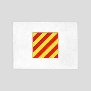 ICS Flag Letter Y 5'x7'Area Rug