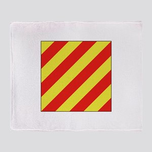 ICS Flag Letter Y Throw Blanket