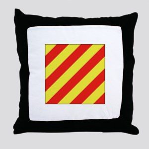 ICS Flag Letter Y Throw Pillow
