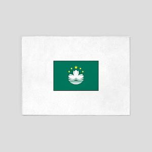 Macau, China Flag 5'x7'Area Rug