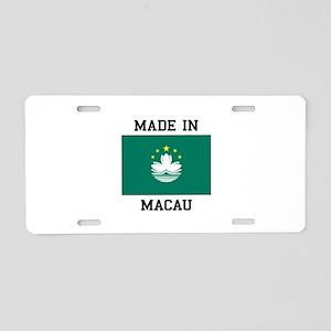 Made in Macau Aluminum License Plate