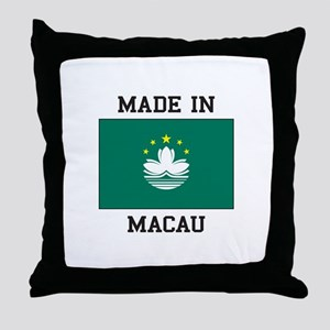 Made in Macau Throw Pillow