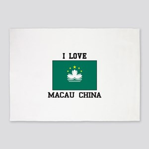 I love Macau CHINA 5'x7'Area Rug