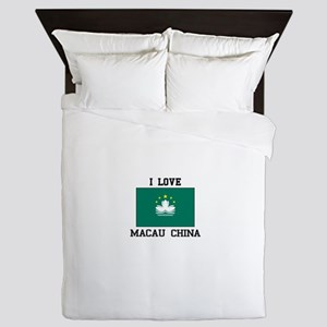 I love Macau CHINA Queen Duvet
