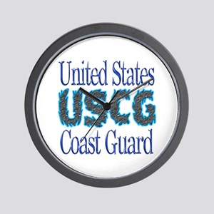 USCG Chrome Wall Clock