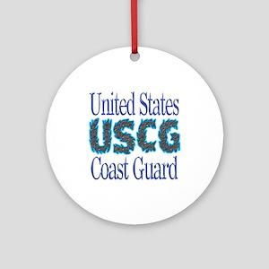 USCG Chrome Ornament (Round)