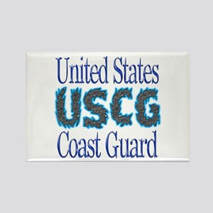 USCG Chrome Rectangle Magnet