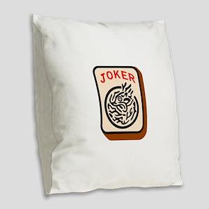 Joker Burlap Throw Pillow