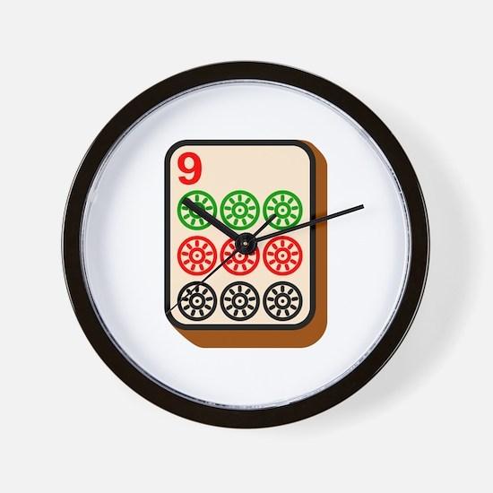 Mahjong Tile Wall Clock