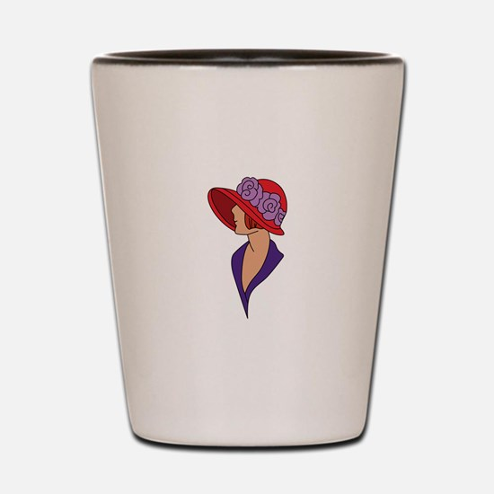 Lady In Hat Shot Glass