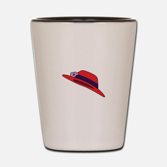 Red Hat Shot Glass