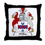 Wilkie Family Crest Throw Pillow
