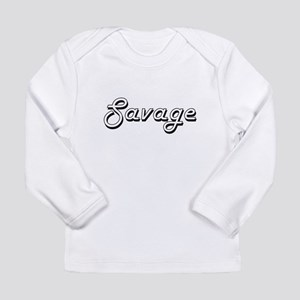 Savage surname classic design Long Sleeve T-Shirt