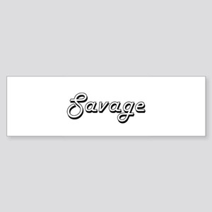 Savage surname classic design Bumper Sticker
