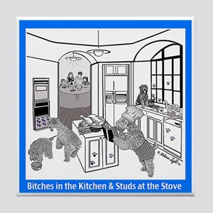 """Studs at the Stove"" Tile Coaster"