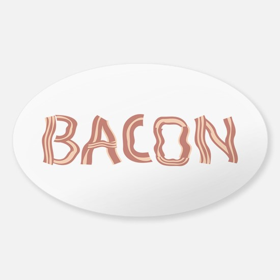 Bacon Typography Sticker (Oval)