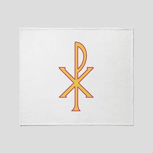 Christ Symbol Throw Blanket