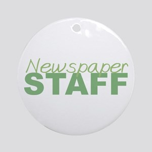 Newspaper Staff Ornament (Round)
