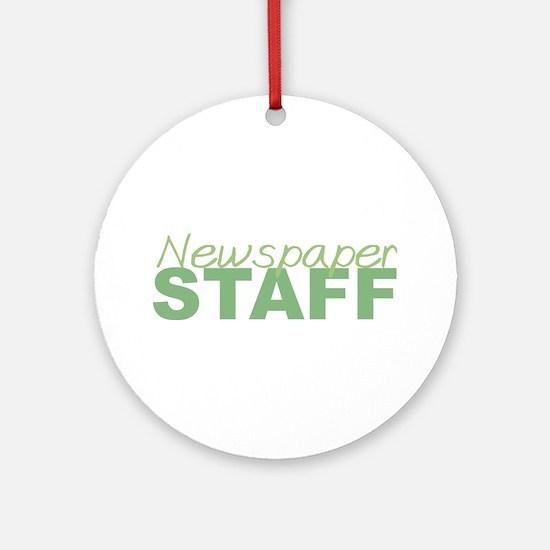 Newspaper Staff Ornament (Round)
