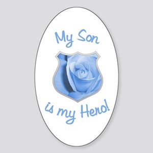 Son Police Hero Oval Sticker