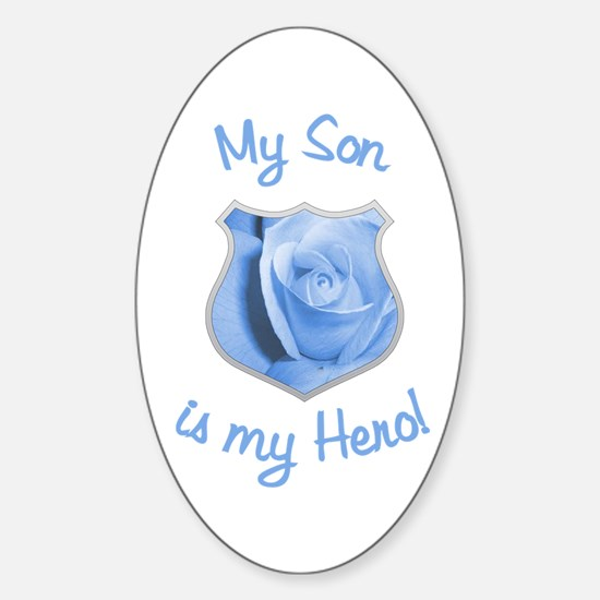 Son Police Hero Oval Decal