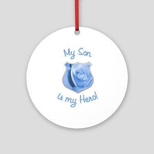 Son Police Hero Ornament (Round)