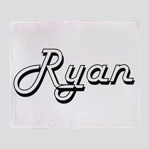 Ryan surname classic design Throw Blanket