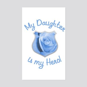 Daughter Police Hero Rectangle Sticker