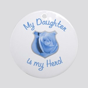 Daughter Police Hero Ornament (Round)