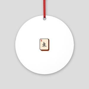 Mahjong East Ornament (Round)