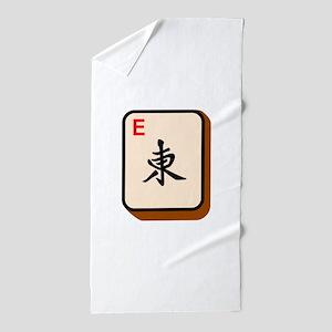 Mahjong East Beach Towel
