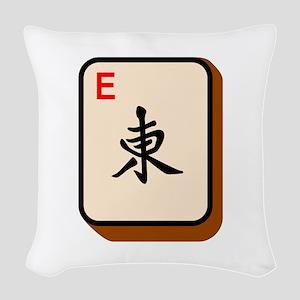 Mahjong East Woven Throw Pillow