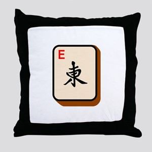 Mahjong East Throw Pillow