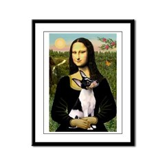 Mona & Toy Fox Terrier Framed Panel Print