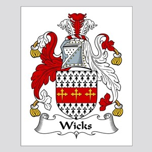 Wicks Family Crest Small Poster