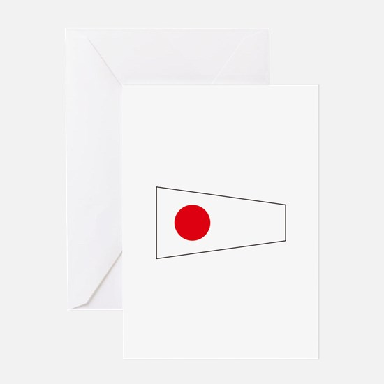 Pennant Flag Number 1 Greeting Cards