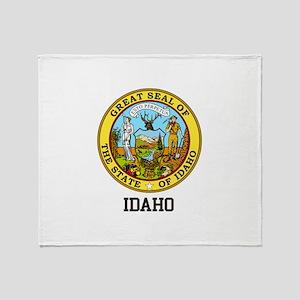 Idaho State Seal Throw Blanket