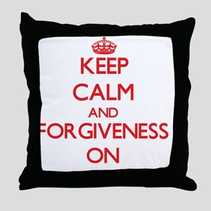 Keep Calm and Forgiveness ON Throw Pillow