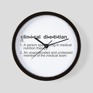 Clinical Dietitian Wall Clock