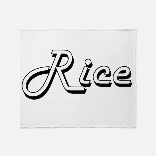 Rice surname classic design Throw Blanket