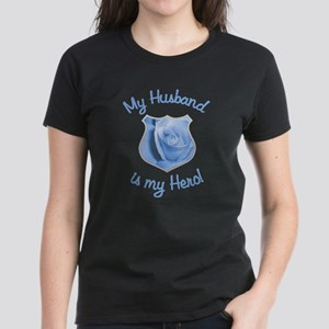 Husband Police Hero Women's Dark T-Shirt